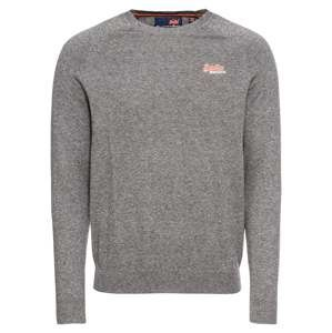 Superdry Svetr 'ORANGE LABEL COTTON CREW'  šedá