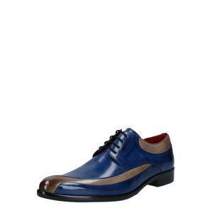 MELVIN & HAMILTON Šněrovací boty 'Toni'  šedobéžová / námořnická modř
