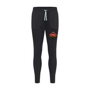 NIKE Sportovní kalhoty  oranžově červená / černá