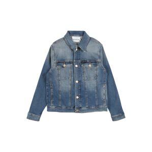 Calvin Klein Jeans Přechodná bunda 'BOYS TRUCKER'  modrá džínovina