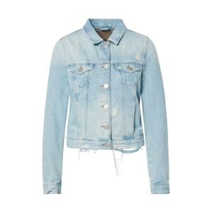 True Religion Přechodná bunda 'DENIM JACKET DESTROYED LIGHT BLUE'  modrá džínovina