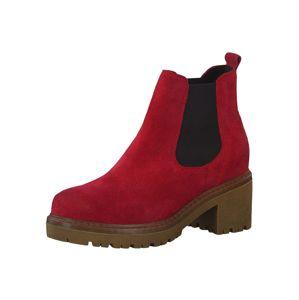 MARCO TOZZI Chelsea boty  červená / černá