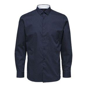 SELECTED HOMME Košile  bílá / tmavě modrá