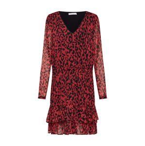 Freebird Koktejlové šaty  ohnivá červená / černá