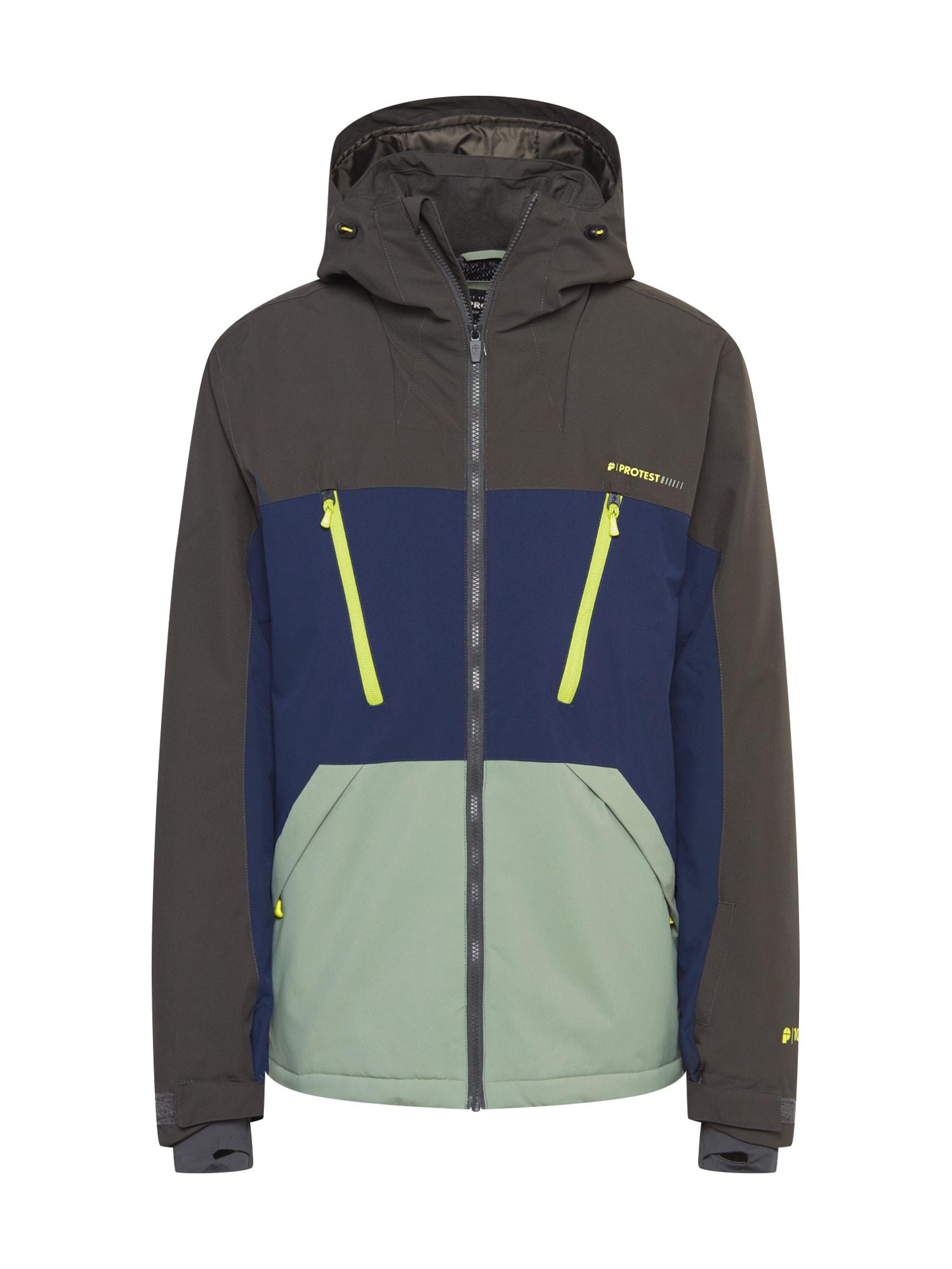 PROTEST Sportovní bunda  tmavě modrá / olivová / světle zelená