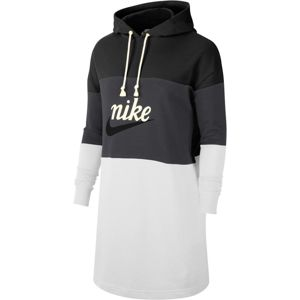 Nike Sportswear Šaty  černá / světle šedá / tmavě šedá