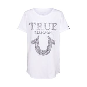 True Religion Tričko ' CHRYSTAL HORSESHOE'  bílá