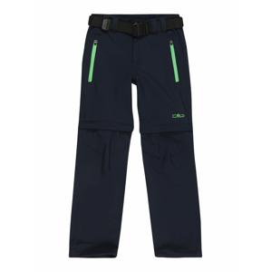 CMP Outodoor kalhoty  noční modrá / svítivě zelená