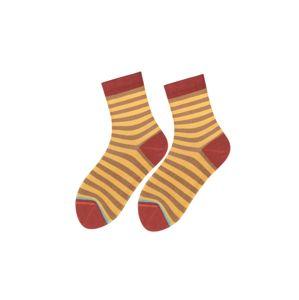 TOO HOT TO HIDE Ponožky 'AMIABLE HEDDA'  žlutá / rezavě hnědá / hnědá / světlemodrá