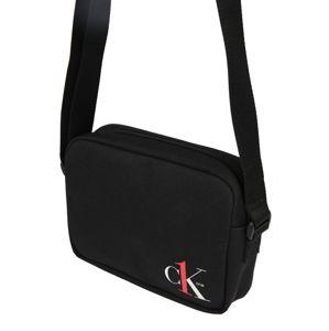 Calvin Klein Jeans Taška přes rameno 'CAMERA BAG'  bílá / černá / červená