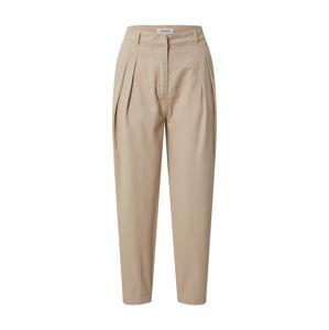EDITED Kalhoty se sklady v pase 'Rea'  velbloudí