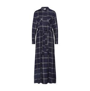 JACQUELINE De YONG Košilové šaty 'JDYCHECKY'  tmavě modrá / šedá