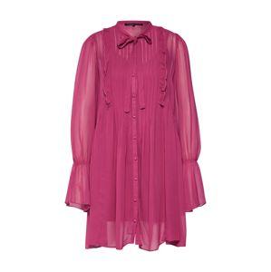 Farina Opoku Košilové šaty  tmavě růžová