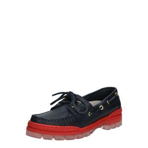 TOMMY HILFIGER Šněrovací boty  červená / černá
