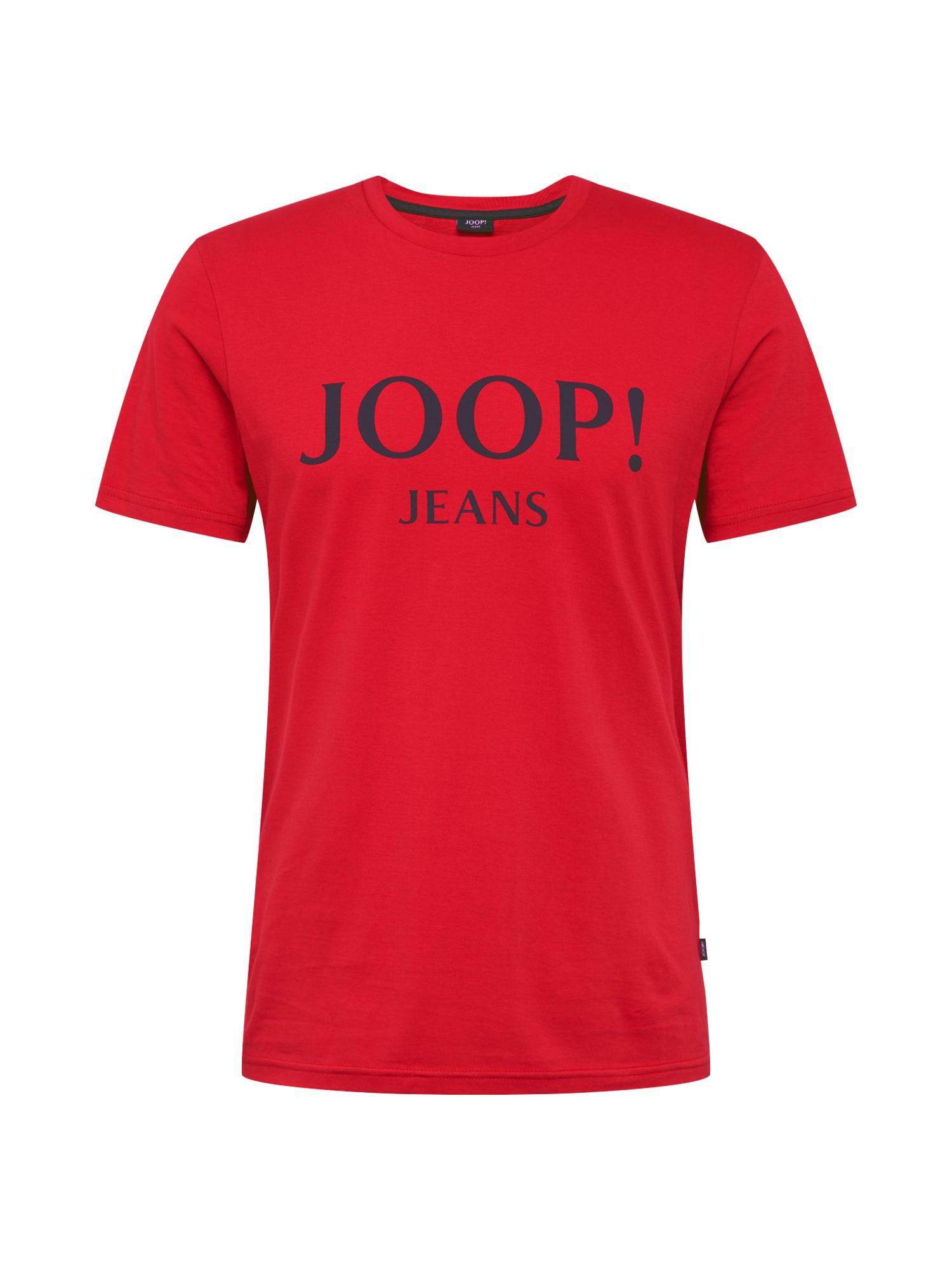 JOOP! Jeans Tričko 'Alex'  červená / černá