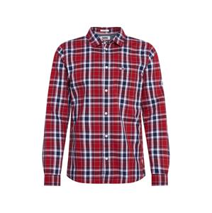 Tommy Jeans Košile  vínově červená / modrá