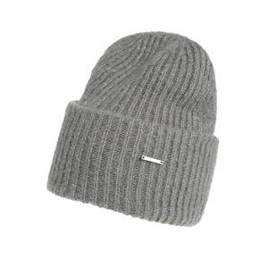 STREET ONE Čepice 'Solid Rib Knit Hat'  zelená