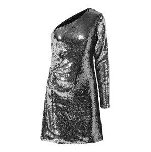 ONLY Koktejlové šaty 'ONLHOLLY ONESHOULDER SEQUIN DRESS WVN'  stříbrná