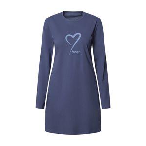 SCHIESSER Noční košilka  chladná modrá / světlemodrá