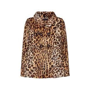 King Louie Přechodná bunda 'Catherine Coat Leo'  béžová / hnědá / černá