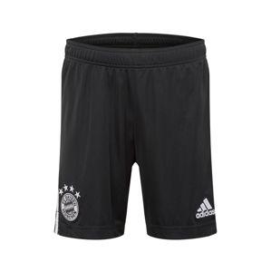 ADIDAS PERFORMANCE Sportovní kalhoty 'FC Bayern München 20/21'  černá / bílá