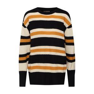 BILLABONG Svetr  krémová / jasně oranžová / černá