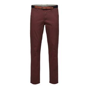 SELECTED HOMME Chino kalhoty 'SLHYARD'  rubínově červená