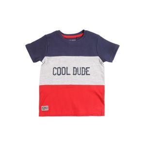 BLUE SEVEN Tričko  bílá / modrá / červená