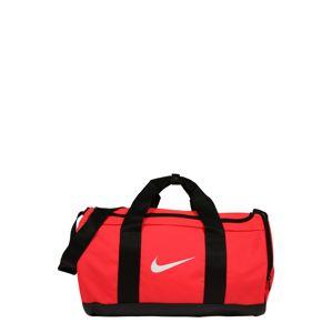NIKE Sportovní taška  černá / bílá / pink