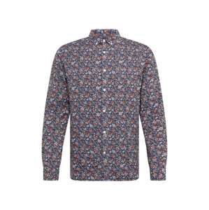 KnowledgeCotton Apparel Košile 'AOP flower printed shirt '  tmavě modrá