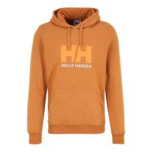 HELLY HANSEN Sportovní mikina 'HH LOGO HOODIE'  oranžová / světle hnědá