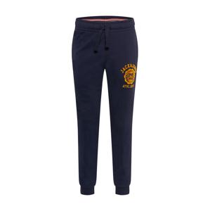 JACK & JONES Sportovní kalhoty  námořnická modř / zlatě žlutá