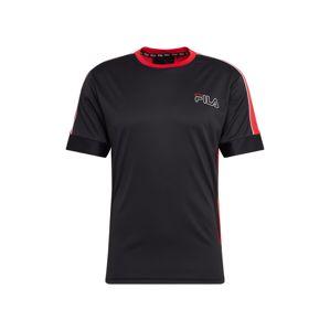 FILA Funkční tričko 'Aiken'  červená / černá