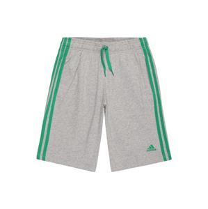 ADIDAS PERFORMANCE Sportovní kalhoty  šedý melír / zelená