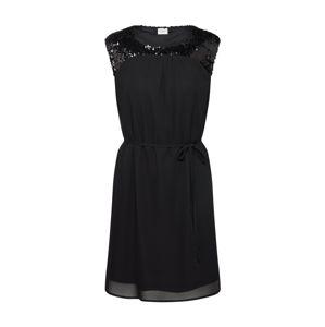JACQUELINE De YONG Společenské šaty 'JDYOTIS S/L UPPER SEQUINS DRESS WVN'  černá