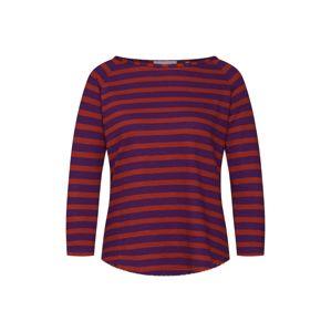 Rich & Royal Tričko 'Heavy Jersey striped'  fialová / rezavě červená