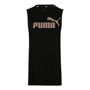 PUMA Funkční tričko 'ESS+ Metallic '  černá / růže