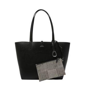 Lauren Ralph Lauren Nákupní taška  šedá / černá