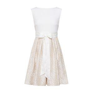 SWING Koktejlové šaty  krémová / zlatá / bílá