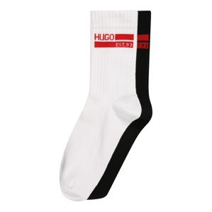 HUGO Ponožky  bílá / černá / červená