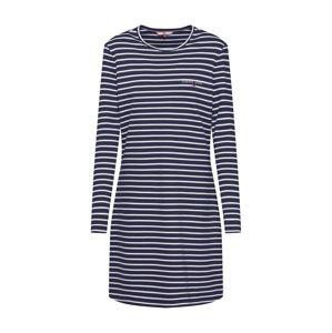 Tommy Jeans Letní šaty  bílá / modrá