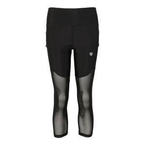 MOROTAI Sportovní kalhoty 'NAKA Performance Mesh Tights 2.0'  černá / bílá