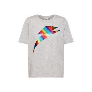 ONLY Tričko 'Bowie'  světle šedá / mix barev
