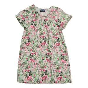 Sanetta Kidswear Šaty 'Dress'  slonová kost / zelená / růžová