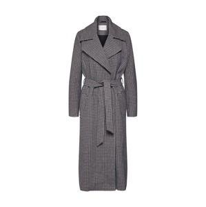 JUST FEMALE Přechodný kabát 'Kenza'  černá / bílá