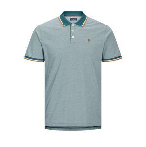 JACK & JONES Tričko 'Premium Win'  modrá / oranžová / marine modrá