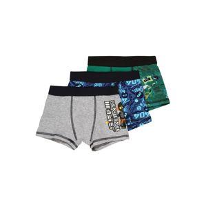 LEGO WEAR Spodní prádlo  šedý melír / modrá / zelená / černá