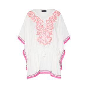Zwillingsherz Tunika 'Ibiza'  pink / bílá