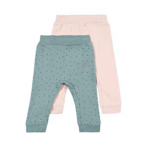 NAME IT Kalhoty 'FLOTUS'  pastelově zelená / černá / růžová