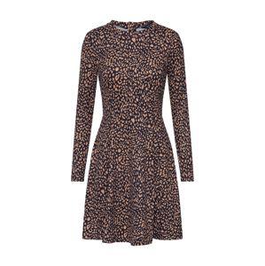 NEW LOOK Koktejlové šaty 'ANNIE'  hnědá / černá